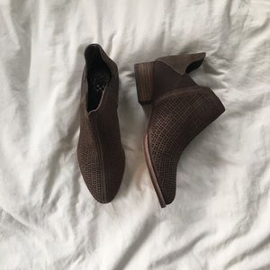 Vince Camuto Brown Cutout Booties NWOT